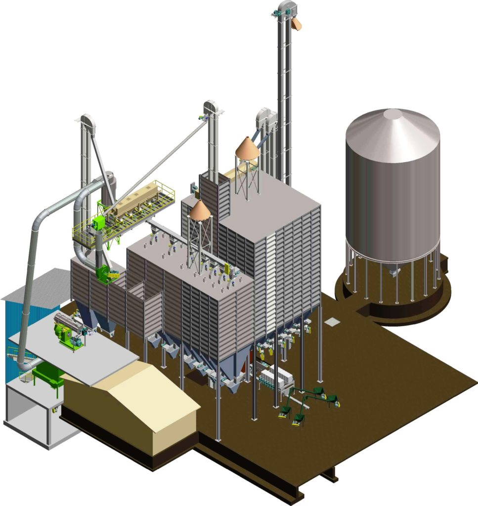 poultry & SwineFeed Mill Engineerng 60 TPH Grind-Ingredient Batch-Mix 30 TPH CPM Pellet Mill_7730  3D CAD, Design, and Engineering of Poultry & Swine Feed Mill by:  Dwight Kinzer using Autodesk Inventor Professional software  Process Equipment & Design, LLC Sedgwick, Kansas, USA  www.grainfeedseed.com